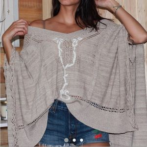 Free People Crochet poncho